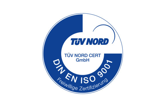 Symbol for a certified company acc. DIN EN ISO 9001
