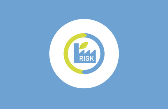 RIGK-SYSTEM Logo against a blue background
